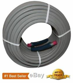 100 ft 3/8 Pressure Washer Hose Gray Non-Marking 4000psi 275 Degrees Industrial