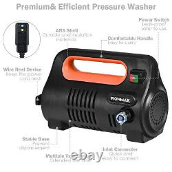 1800PSI Portable Electric High Pressure Washer 1.96GPM 1800W With Hose Reel Orange