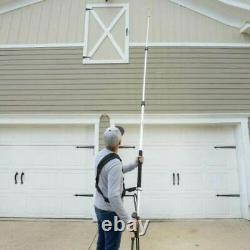 18ft Telescoping Pressure Washer Spray Wand Gutter Cleaner 4200-PSI+Belt+Nozzles