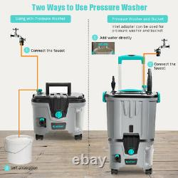 1.5 GMP 1160 PSI Cordless Electric Pressure Washer With Battery & Water Tank