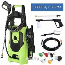 1.8GPM 3000PSI High Power Water Electric Pressure cleaner Machine washer 5Nozzle
