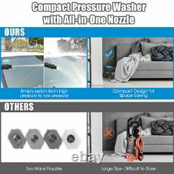 2000PSI X-Shaped Electric High Pressure Washer Machine 1.6 GPM 1500W Blue