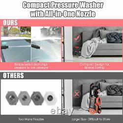 2000PSI X-Shaped Electric High Pressure Washer Machine 1.6 GPM 1500W Red