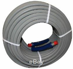 200 ft 3/8 Gray Non-Marking 6000 psi Pressure Washer Hose HOT WATER STEAM 200