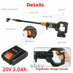 20V Car Cordless Pressure Cleaner Washer 435PSI 3.0A Battery & Charger Portable
