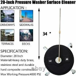 20-Inch 4000 PSI Pressure Washer Surface Cleaner Power Washer Accessory