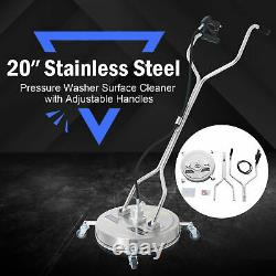 20 Inch Pressure Surface Cleaner Attachment for Power Washers Rated to 4000 PSI