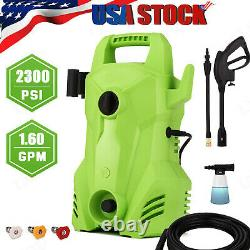 2300PSI 2.0GPM Electric Pressure Washer Powerful Cold Water Cleaner Machine Kits