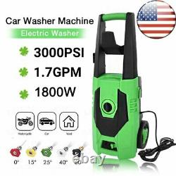 3000PSI 1.7GPM Electric Pressure Washer High Power Cleaner Water Sprayer Machine