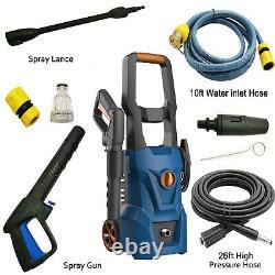 3000PSI 1.8GPM Electric Pressure Washer High Power Cleaner, Water Sprayer Machine