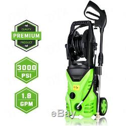 3000PSI 1.8GPM Electric Pressure Washer Powerful Cold Water Cleaner Machines