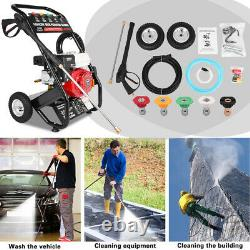3000PSI-4000PSI 3.13GMP Gas Powered Petrol Engine Cold Water Pressure Washer