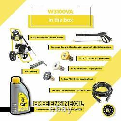 3100 PSI Pressure Washer 2.9 GPM by Waspper 6.5 HP 5 Nozzle Tips W3100VA