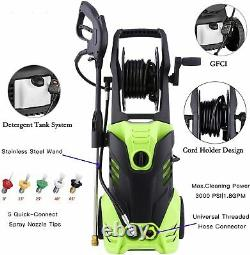 3500PSI 2.6GPM Electric Pressure Washer High Power Cleaner Machine Water Sprayer