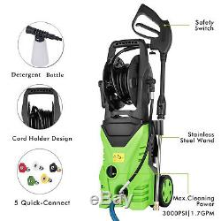 3500PSI 2.6GPM Jet Electric Pressure Washer Heavy Duty Auto With 5 Spray Nozzles