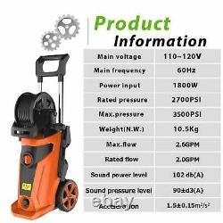 3500PSI 2.6 GPM High Pressure Power Water Wash Sprayer Electric Pressure Washer