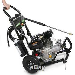 3600 PSI 2.8GPM Gas Pressure Washer High Power Cold Water Cleaner 212CC 7HP