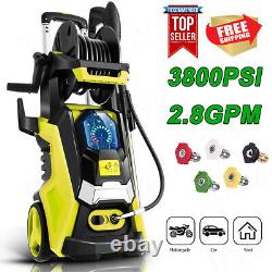 3800PSI 2.8GPM Electric Pressure Washer High Power Cleaner Sprayer 5 Nozzles//