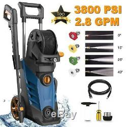 3800PSI 2.8GPM High Power Electric Pressure Washer Cold Water Cleaner Machine