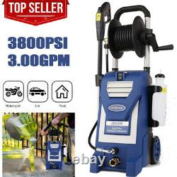 3800PSI 3.0GPM Electric Pressure Washer Cold Water Cleaner Machine 2000W