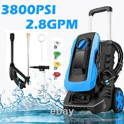 3800PSI 3.0GPM Electric Pressure Washer Water Cleaner Sprayer Kit with Hose Reel