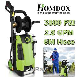 3800PSI Electric High Pressure Washer 2.8GPM 1800W Cleaner Machine With Hose Reel
