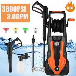 3800PSI Pressure Washer 3.0GPM Portable Electric High Power Washer Machine 2000W