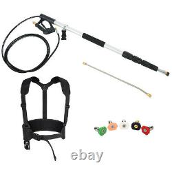 4000PSI 18Ft Commercial Grade Telescope Pressure Washer Spray Wand 5 Nozzle