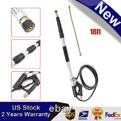 4000PSI 18Ft Commercial Grade Telescoping Pressure Washer Spray Wand US Ship
