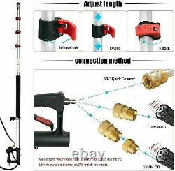 4000PSI High Pressure Washer Telescoping Extension Wand 18FT Spray Gutter Clean