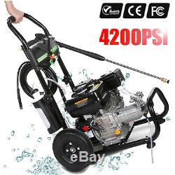 4200PSI 3.0GPM Gas Pressure Washer High Power Cold Water Cleaner Machine Kit 7HP