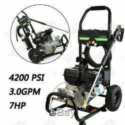 4200PSI 3.0GPM Gas Pressure Washer High Power Water Cleaner 212CC 4Stroke 7.0HP