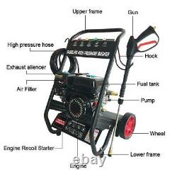 4800PSI 7HP Gas Pressure Washer with Power Spray Gun 4-Stroke 5 Nozzles New