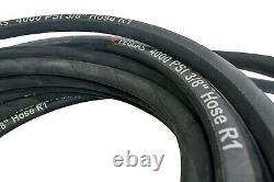 50ft. Steel Braided Gas Pressure Washer Hose 4000 PSI 3/8 High Quality Dewalt