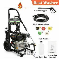 7HP 4200PSI Petrol Engine High Pressure Washer 2.8GPM Household Cleaning Machine