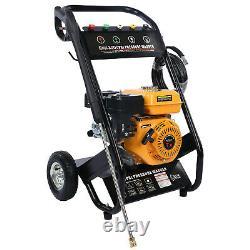 7.0HP 4-Stroke Gas Petrol Engine Cold Water Pressure Washer withSpray Gun 3000 PSI
