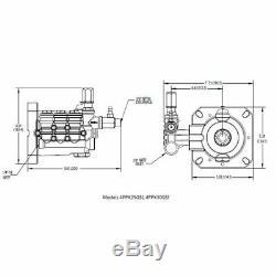 CAT Pumps 3000 PSI 2.7 GPM Replacement Triplex Plunger Pressure Washer Pump w