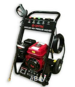 CRYTEC PRO 7HP 3400RPM Petrol High Power Pressure Jet Washer 2500PSI COMMERCIAL