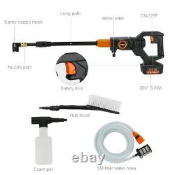 Cordless Pressure Washer Portable Power Cleaner 320 psi / 3.0A Battery & Charger