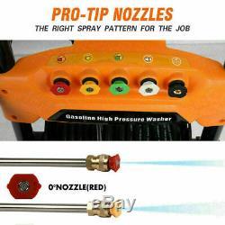 ETOSHA 6.5HP 4800PSI Max Gas Pressure Washer Power Spray Gun 4-Stroke 5 Nozzles
