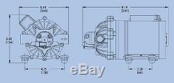 EVERFLO 12 Volt 7.0 GPM Diaphragm Water Pump 60 psi Lawn Sprayers, Boats, RV's