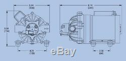 EVERFLO 12 Volt Diaphragm Pump 60psi @ 7gpm, Sprayers, Boats, RV's, Soft Wash