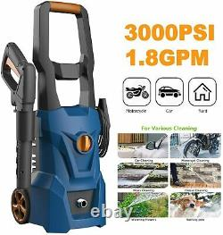 Electric Pressure Washer 3000PSI 1.8GPM High Power Cleaner Machine Home -NEW