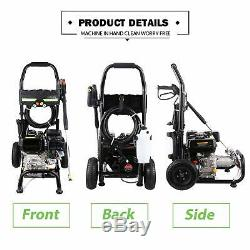 Homdox 3600 PSI 2.8 GPM Cold Water 212CC 8HP Gas Power Pressure Washer (Best!)