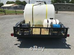 Hot Water Pressure Washer Trailer Mounted-6gpm 4000psi-Honda GX630