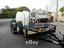 Hot Water Pressure Washer Trailer Mounted-8gpm, 4000psi-Diesel Engine