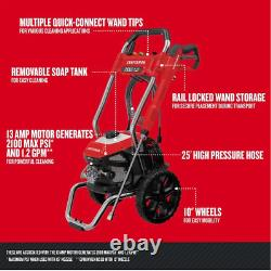 New CRAFTSMAN 2100-PSI 1.2-Gallon Cold Water Electric Pressure Washer- CMEPW2100