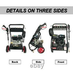 New Gas Pressure Washer 4800PSI 7HP Gas with Power Spray Gun 4-Stroke 5 Nozzles