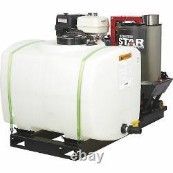 NorthStar Hot Water Pressure Washer Skid withWet Steam 3000 PSI 4 GPM 100-Gal Tank