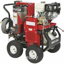 NorthStar Hot Water Pressure Washer withWet Steam- 3000 PSI 4.0 GPM Honda Engine